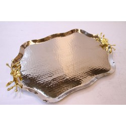 Copper Hammered  Coffee & Tea Serving Tray
